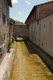 Vicolo nel centro storico di Gubbio Fotografia Stock Libera da Diritti