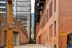 Vicolo nel ciclo del centro del ` s di Chicago Immagine Stock Libera da Diritti