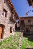 Vicolo nel villaggio Fotografia Stock
