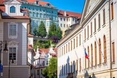 Vicolo nell'area del castello di Praga Praga, repubblica Ceca Fotografie Stock Libere da Diritti