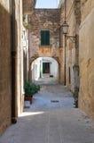 Vicolo. Oria. La Puglia. L'Italia. Fotografie Stock