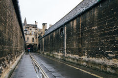 Vicolo a Oxford un il giorno piovoso Fotografia Stock