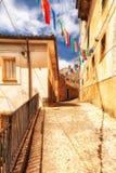 Vicolo pavimentato in San Donato Immagini Stock Libere da Diritti