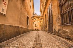 Vicolo pedonale a Praga Fotografia Stock Libera da Diritti
