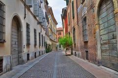Vicolo. Piacenza. L'Emilia Romagna. L'Italia. Fotografie Stock