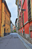 Vicolo. Piacenza. L'Emilia Romagna. L'Italia. Immagine Stock Libera da Diritti