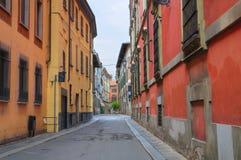 Vicolo. Piacenza. L'Emilia Romagna. L'Italia. Fotografia Stock