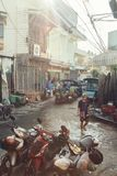 Vicolo posteriore in Chinatown Chiang Mai immagini stock