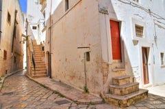 Vicolo. Putignano. La Puglia. L'Italia. Fotografia Stock