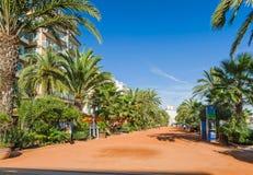 Vicolo sabbioso di Lloret de Mar Fotografia Stock