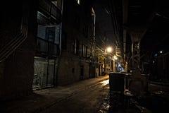 Vicolo scuro della città Immagini Stock Libere da Diritti