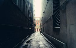 Vicolo scuro a Toronto, Canada Fotografia Stock