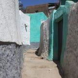 Vicolo stretto della città antica di Jugol Harar Jugol l'etiopia Fotografia Stock
