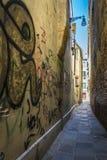 Vicolo stretto a Venezia, Italia Immagine Stock Libera da Diritti