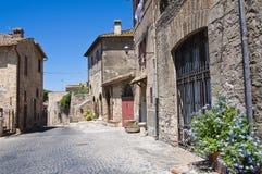 Vicolo. Tarquinia. Il Lazio. L'Italia. Immagine Stock Libera da Diritti