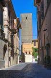 Vicolo. Tarquinia. Il Lazio. L'Italia. Fotografia Stock