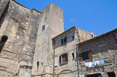 Vicolo. Tarquinia. Il Lazio. L'Italia. Fotografia Stock Libera da Diritti