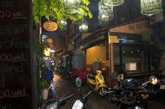 Vicolo variopinto piovoso in distretto 1 Ho Chi Minh Vietnam Immagini Stock