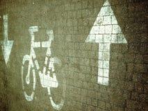 Vicolo verticale della bici Immagine Stock