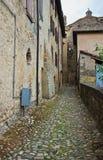 Vicolo. Vigoleno. L'Emilia Romagna. L'Italia. Immagini Stock