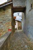 Vicolo. Vigoleno. L'Emilia Romagna. L'Italia. Immagini Stock Libere da Diritti