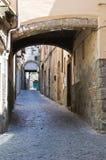 Vicolo. Viterbo. Il Lazio. L'Italia. Immagine Stock