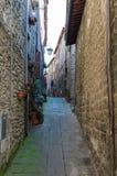 Vicolo a Viterbo, Italia Fotografia Stock