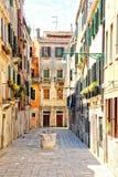 Vicolo vuoto di Venezia Fotografia Stock Libera da Diritti