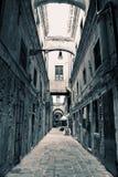 Vicolo vuoto di Venezia Fotografia Stock