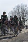 VICOPISANO, ITALIEN - 12. MÄRZ: Radrennen am 12. März 2015 in Vic Lizenzfreies Stockfoto