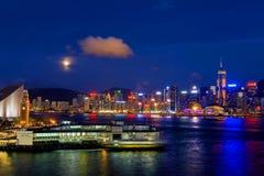 vicrotia лунного света гавани Стоковая Фотография