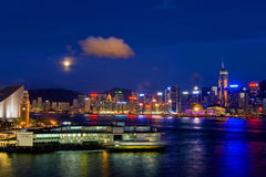 Vicrotia Harbour in Moonlight Stock Photography