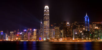 Victoria Harbour in Night Scene Royalty Free Stock Photo