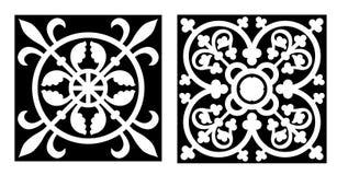 vicrtorian designstil vektor illustrationer
