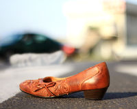 Victim of an accident at a pedestrian crossing Stock Image