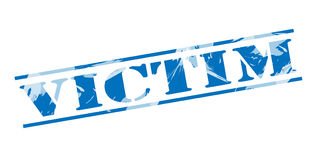 Victim blue stamp Royalty Free Stock Images