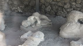 Victim of the eruption in Pompeii stock video