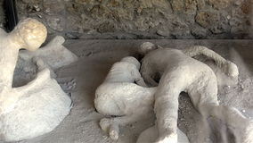 Victim of the eruption in Pompeii stock video footage