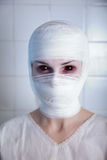 Victim of genetic experiment, girl in bandage Royalty Free Stock Images