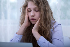 Victim on the internet Royalty Free Stock Images