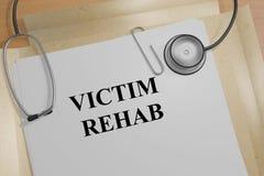 Victim Rehab concept Stock Image