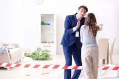 The victim wife at the scene on murder. Victim wife at the scene on murder stock images