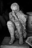 Victime d'être humain de Pompeii Photos stock