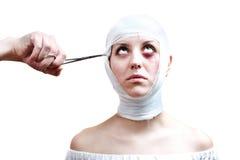 Victime de chirurgie Images libres de droits