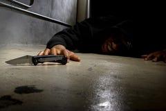 Victime de meurtre par violence de bande photo libre de droits