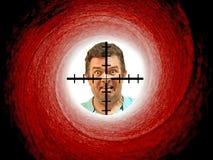 Victime de polisson d'arme à feu de jouet Image stock