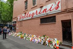 Victime de Sisto Malaspina de DÉCHIRURE d'attaque terroriste alléguée photographie stock