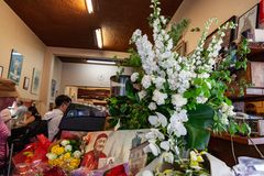 Victime de Sisto Malaspina de DÉCHIRURE d'attaque terroriste alléguée image libre de droits