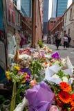 Victime de Sisto Malaspina de DÉCHIRURE d'attaque terroriste alléguée photos libres de droits
