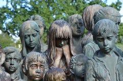 Victimes de la deuxième guerre mondiale faites de bronze Photos libres de droits